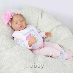 Handmade 22 Reborn Baby Girl Doll Newborn Lifelike Silicone Vinyl Dolls Soft US