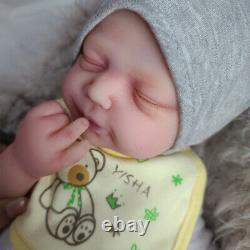 Harper -18.5 in Platinum Silicone Reborn Baby Doll Lifelike Silicone Baby Doll
