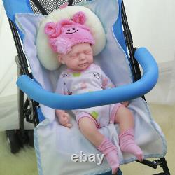 Harper- COSDOLL 18.5 in Platinum Silicone Lifelike Soft Silicone Baby Doll