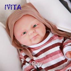 IVITA 14'' Full Silicone Reborn Baby GIRL Doll 1.6kg Small Cute Baby Toy Gift