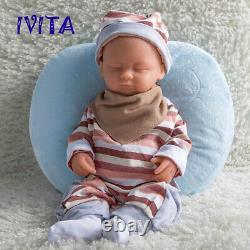 IVITA 15'' Handmade Sleeping Baby Girl Lifelike Silicone Reborn Doll 1800g