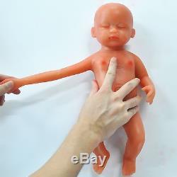 IVITA 15'' Skin Color Eyes Closed 1.8KG Silicone Reborn Baby Girl Lifelike Doll