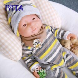 IVITA 16 Silicone Reborn Baby Doll Waterproof Cute Boy Special sales Xmas Gift