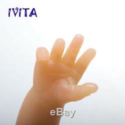 IVITA 16'' Silicone Reborn Baby GIRL Lovely Fullbody Silicone Doll 2KG