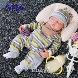 IVITA 18.5'' Eyes Closed Silicone Reborn Baby GIRL Cute Newborn Sleeping Baby