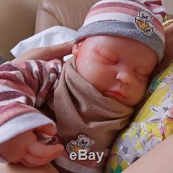 IVITA 18.5'' Realistic Sleeping Baby Doll Silicone Reborn Baby Girl Newborn Baby