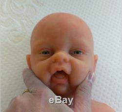 IVITA 18'' Cute Full Body Silicone Reborn Baby GIRL Take A Dummy Silicone Doll
