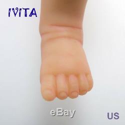 IVITA 18'' Eyes Closed Silicone Reborn Baby GIRL Sleeping Doll 3.2KG