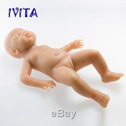 IVITA 18'' Eyes Closed Silicone Reborn Doll Sleeping Baby Girl Can Take Pacifier