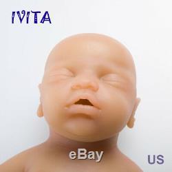 IVITA 18'' Eyes-closed Baby Doll BOY Full Body Soft Sleeping Silicone Baby