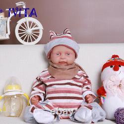 IVITA 18'' Full Body Silicone Reborn Doll 3800g Waterproof Baby Girl Xmas Gift