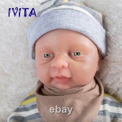 IVITA 18'' Full Body Waterproof Silicone Reborn Doll Baby Girl Can Take Pacifier