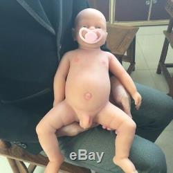 IVITA 18'' Full Silicone Reborn Baby BOY Take Pacifier Lifelike Cute Dolls