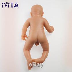 IVITA 18'' Reborn Baby Boy Realistic Silicone Reborn Baby Dolls Teaching Doll