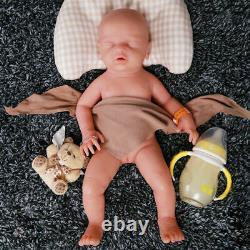 IVITA 18 Silicone Rebirth Baby Doll Handmade Sleeping Baby Girl Doll Toys Gifts