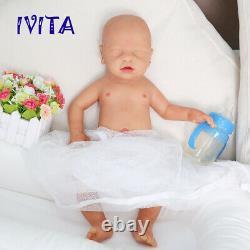 IVITA 18'' Sleeping Silicone Reborn Doll Newborn Baby Boy 3100g Toy Xmas Gift