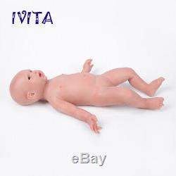 IVITA 19'' Full Body Soft Silicone Reborn Doll Lifelike Baby Girl 3600g Toy Gift