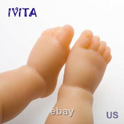 IVITA 19'' GIRL Reborn Baby Doll Full Body Silicone Eyes Closed Sleeping Infant