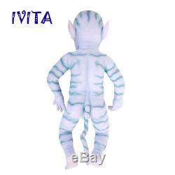 IVITA 20'' Avatar Eyes Closed Silicone Reborn Baby BOY Lifelike Cute Doll 2900g