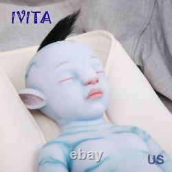 IVITA 20'' Avatar Silicone Reborn Doll Cute Silicone Baby Girl Hair Rooted