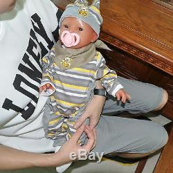 IVITA 20'' Full Body Silicone Reborn Baby GIRL Smile Dolls Can Take Pacifier