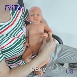 IVITA 20'' Lifelike Silicone Reborn Baby GIRL Dolls Toddler Vivid Doll Xmas Gift
