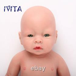 IVITA 20'' Realistic Silicone Reborn Baby GIRL Dolls Waterproof Holiday Gifts