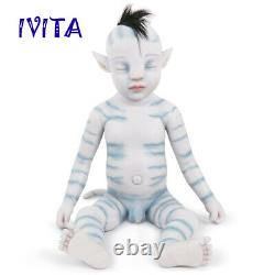 IVITA 20'' Silicone Reborn Doll Rooted Hair Avatar Baby BOY Toy Xmas Gift 2900g
