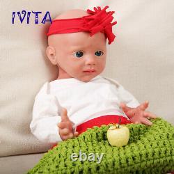 IVITA 205KG Big Eyes Silicone Rebirth Baby Girl Waterproof Doll Kids Accompany