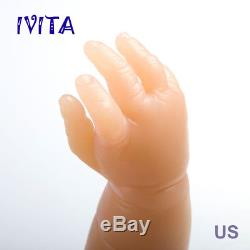 IVITA 21'' Reborn Baby Girl Doll Realistic Newborn Silicone Doll Christmas Gift