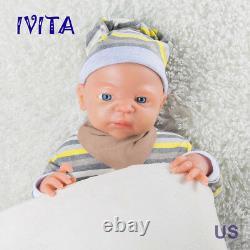 IVITA 22inch Full Body Silicone Reborn Baby BOY Realistic Big Silicone Doll