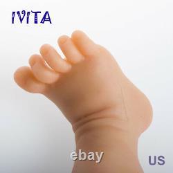 IVITA 23'' Big Reborn Full Body Silicone Doll Adorable Smile Newborn Baby Girl