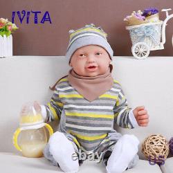 IVITA 23'' Big Smile Silicone Doll Silicone Reborn Baby BOY Realistic