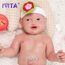 IVITA 23 Realistic Silicone Reborn Baby Doll Waterproof Baby+Clothes Kids Toys