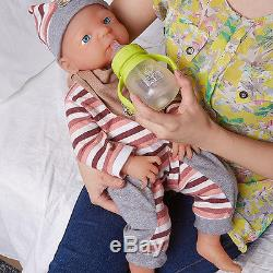 IVITA Lovely Reborn Baby Doll Realistic Silicone Newborn Toddle Christmas Gift