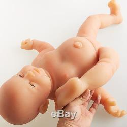 IVITA New Design Realistic Adorable Reborn Baby Doll Full Body Silicone