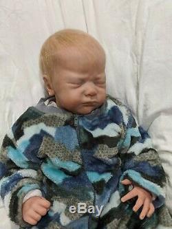 Jayden Asleep by Natalie Scholl Newborn Reborn Baby Boy or Girl Sold Out LE