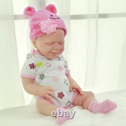 Katie-18.5 in Full Silicone Reborn Baby Girl Doll Platinum Silicone Baby Doll