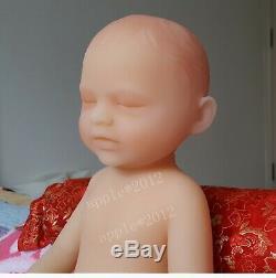 Lifelike 18/46cm 1.8kg/4lb Full Body Solid Soft Silicone Reborn Baby GIRL Doll