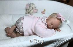 Long Sold Out Reborn Baby Girl JAYDEN ASLEEP Natalie Scholl
