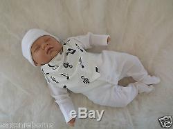 MELODY BOY BOS Mottled Reborn Baby Doll UK Artist Girls Birthday Xmas Gift CE