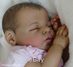 Martina's Babies reborn ethnic Noah by Reva Schick, real newborn baby girl doll