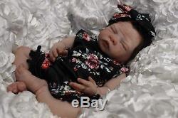 Mia Full Body Solid Silicone Newborn Baby Girl by Olivia Stone Ecoflex 10
