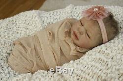 Mia by Olga Romanova Solid Full Body Silicone Newborn Baby Girl doll