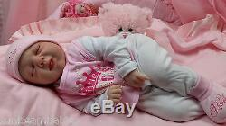 Michelle Fagan Reborn Baby Girl Doll With Tongue Detail Soft Silicone Vinyl