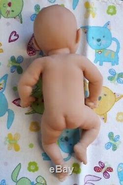 NEW 7 Micro Preemie Full Body Silicone Baby Girl Doll Kayla