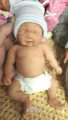 NEW 8 Micro Preemie Full Body Silicone Baby Boy Doll Cooper