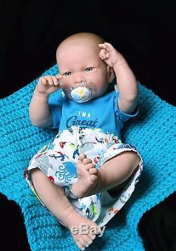 New Baby Boy Doll 17 InchES Berenguer Newborn Reborn Soft Vinyl Real SUPER DEAL
