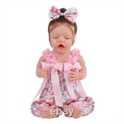 New Full Body Silicone Bebe Doll Reborn Baby Girl In The Giraffe Dress Set