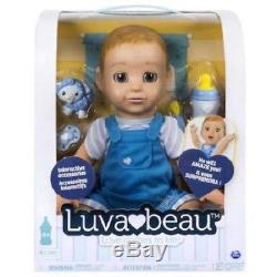 New Luva Bella Luvabella Luva Beau LuvaBeau Baby Boy Interactive Responsive Doll